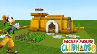 """Minecraft Tutorial: How To Make Goofys House from Mickey Mouses Clubhouse """"Goofy House Tutorial"""""""