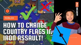 How To Change Flags In Iron Assault WITHOUT A GLITCH!! Roblox   Iron Assault