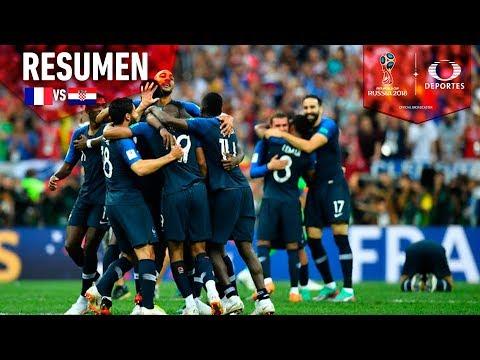 ¡Tenemos Campeón Mundial!   Francia 4 - 2 Croacia   Mundial Rusia 2018