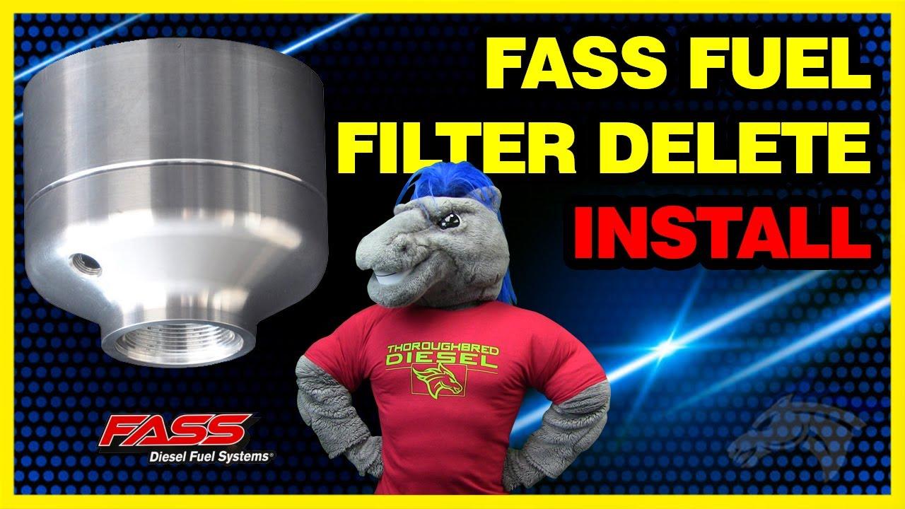 FASS Fuel Filter Delete Install: Duramax LML #DFD-4000