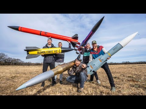 Model Rocket Battle 2 | Dude Perfect