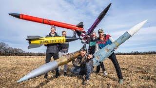 Model Rocket Battle 2   Dude Perfect