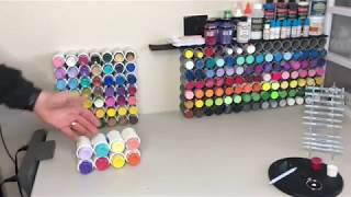 How To Make Your Own Craft Paint Organizer Storage Rack DIY