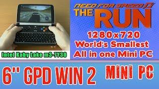 GPD WIN 2 NFS The Run on Handheld Mini PC - 256 GB SSD 8GB RAM Intel Core m3-7Y30 HD 615