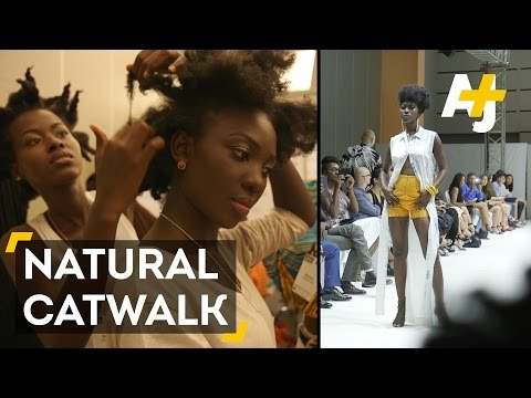 Natural Hair Rules The Catwalk In Ghana