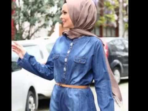 ملابس محجبات للصيف باللون الازرق Youtube