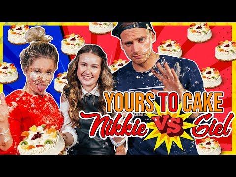 STUKTV GIEL, BEAUTYNEZZ EN NIKKIE PLESSEN DOEN EEN MEGA TAARTGEVECHT  | Yours To Cake