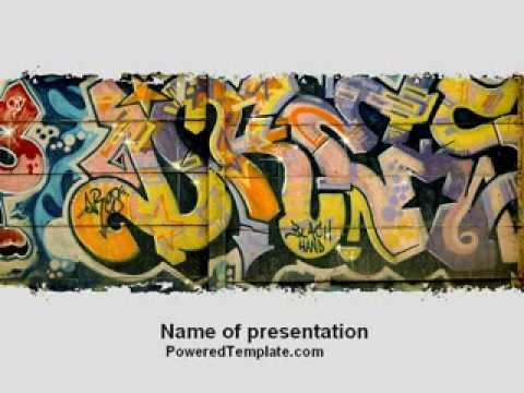 Graffiti on the wall powerpoint template by poweredtemplate graffiti on the wall powerpoint template by poweredtemplate toneelgroepblik Image collections