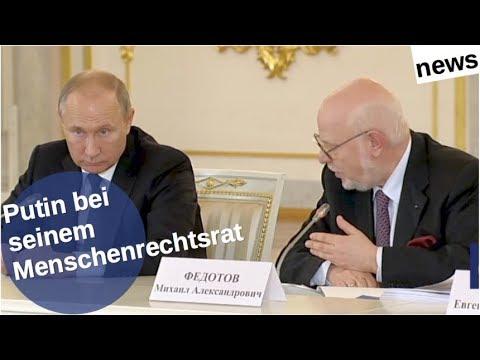 Putin bei seinem Menschenrechtsrat