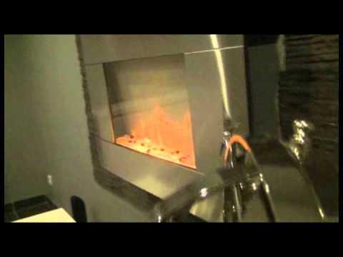 Chemin e lectrique design avec fa ade et t l commande led 2000 watts volcano color style youtube - Cheminee electrique a led ...