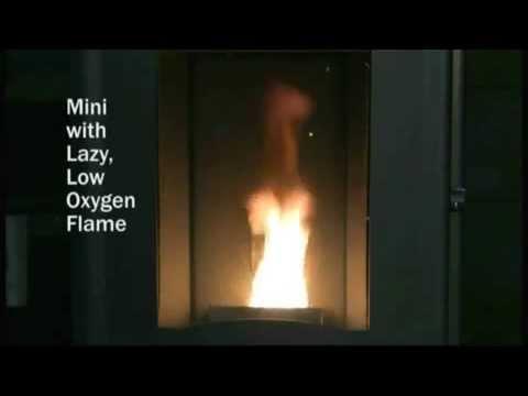Pellet Stove Flame Characteristics (Enviro Mini)