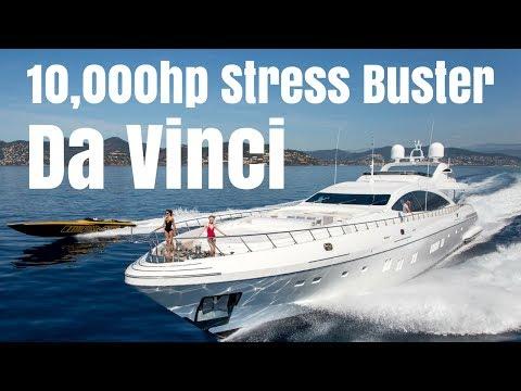 """Mangusta 165 Charter Yacht """"Da VincI"""". The 10,000hp Stress-Buster!"""