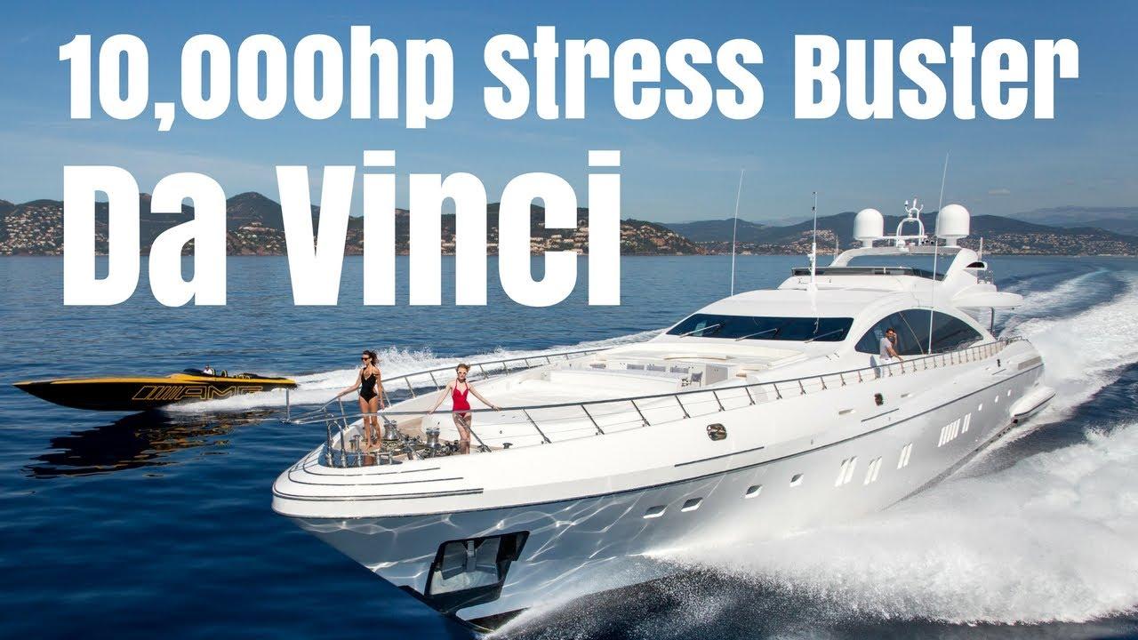 Mangusta 165 Charter Yacht Da Vinci The 10 000hp Stress Buster