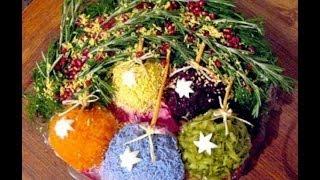 Новогодние салаты - как украсить салаты на Новый год с фото