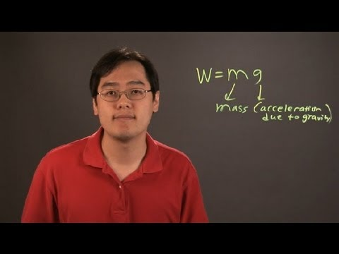 how to find weight in physics