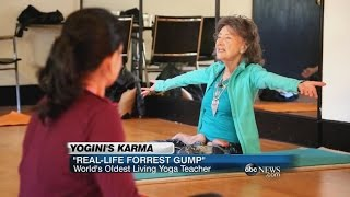 "World's Oldest Yoga Instructor is a ""Real-Life Forrest Gump!"" 