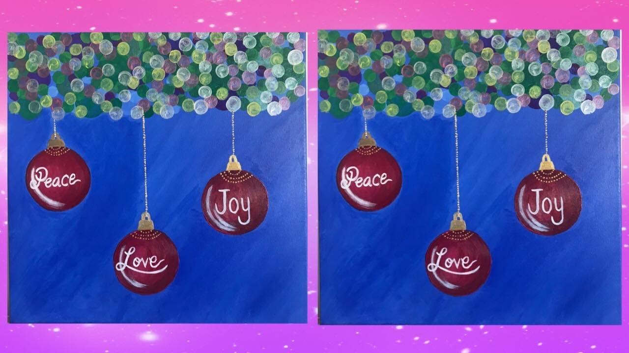 Diy Christmas Canvas Painting Decor Youtube