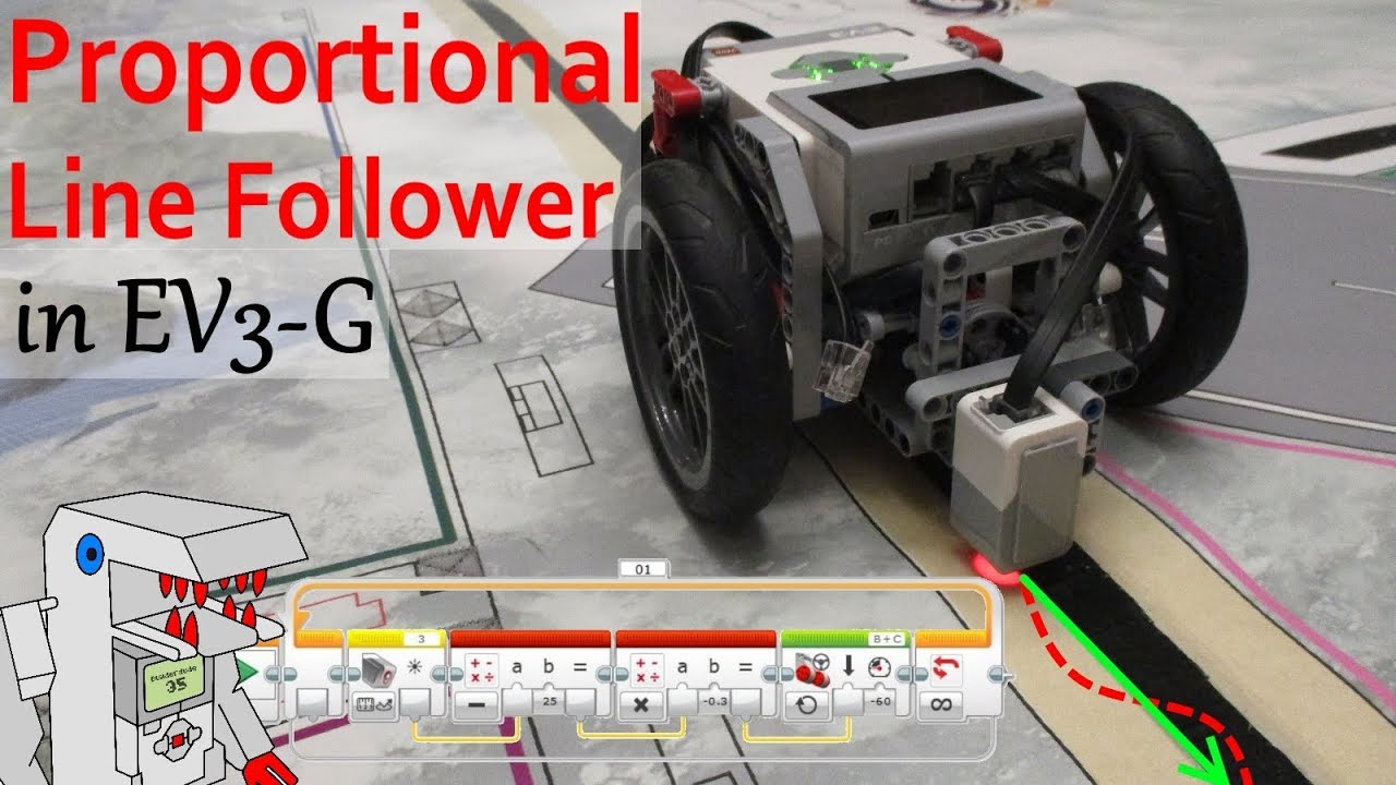 Proportional Line Follower For Ev3 Follow The Line Smoothly Youtube