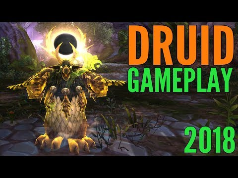 WoW Druid Gameplay 2018 - Balance, Feral, Guardian, & Restoration (All Specs) - World of Warcraft