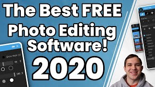 The Best FREE Photo Editing Software 2020!