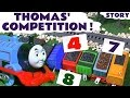 Thomas and Friends competition for Paw Patrol pups | Counting and Play Doh Toy Train Guessing