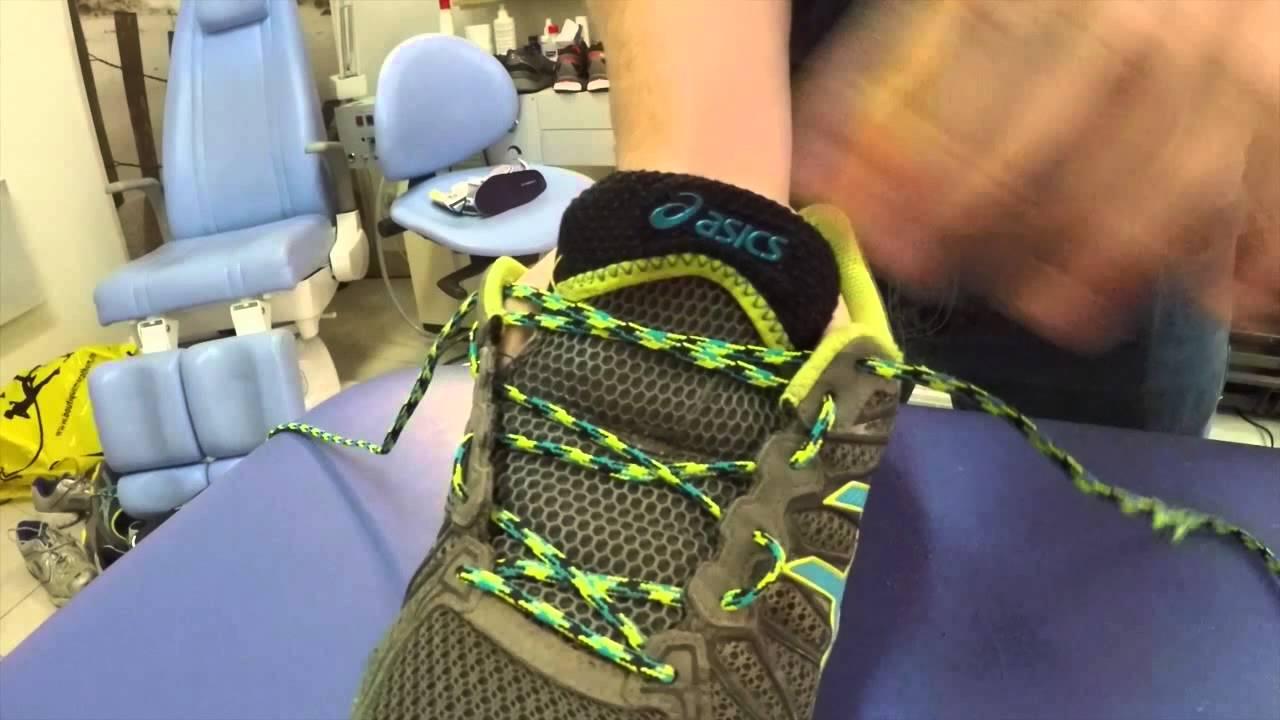 Laçage d'une chaussure de running