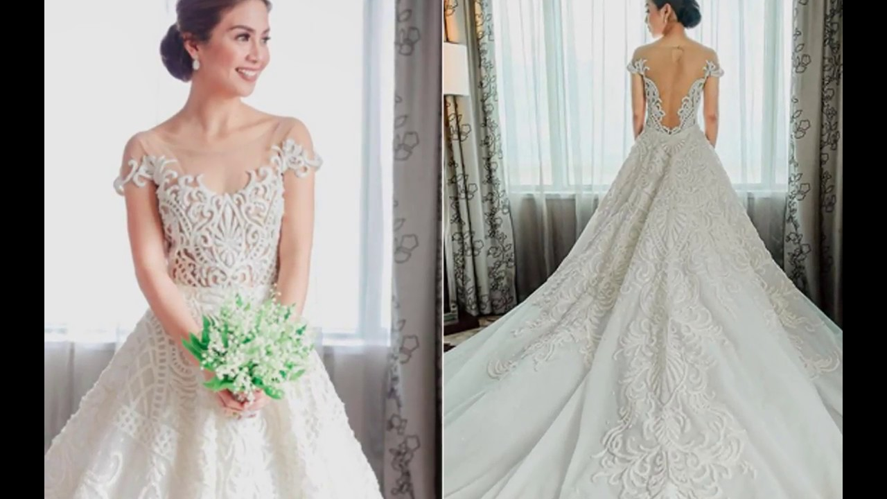 Filipino celebrity wedding dresses youtube for Celebrity wedding guest dresses