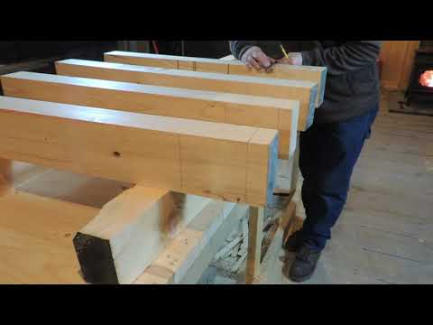 Tenon Layout for Our Planer Stand Legs Planer Stand Build #4