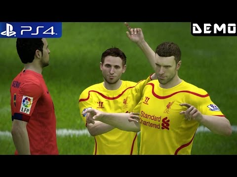 Fifa 15 - Gameplay Demo PS4 Liverpool vs FC Barcelona 1080p