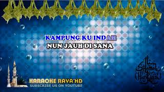 Karaoke Dendang Perantau - P. Ramlee   Tanpa Vokal   Minus One   Lirik Video HD