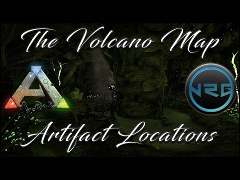 All artifact/cave locations on The Volcano Map : ARK