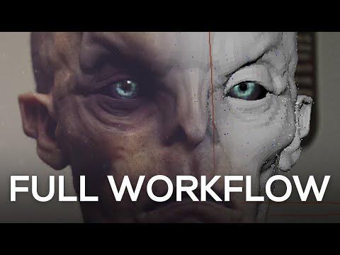 Speed Modeling #X - Khuv'uk | Full Workflow | Zbrush - Maya - Mari - Vray