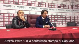 Arezzo-Prato 1-0: la conferenza stampa di mister Capuano