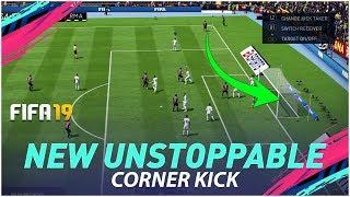 FIFA 19 NEW UNSTOPPABLE CORNER KICK TUTORIAL - MOST EFFECTIVE WAY TO SCORE GOALS FROM CORNER KICKS