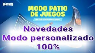 #Fortnite Nueva actualización oculta  patio de juegos personalizado 100%  #gravedad 0 # sin daños...