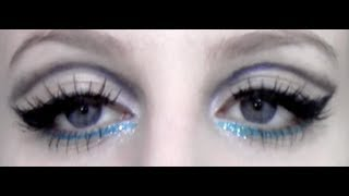 Edie Sedgwick/Twiggy Makeup Tutorial 60's ツイッギー 検索動画 20