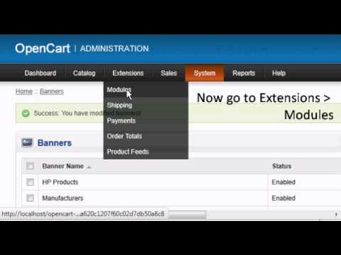 how to change homepage in opencart
