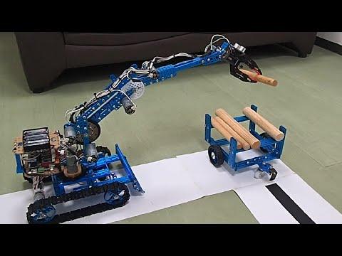 プログラミング林業機械グラップル フォークリフト トレーラーMakeblock Ultimate20 mBot