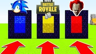 DO NOT CHOOSE THE WRONG PORTAL (SONIC,FORTNITE BATTLE ROYALE, PENNYWISE)(PS4/XboxOne/PE/MCPE)