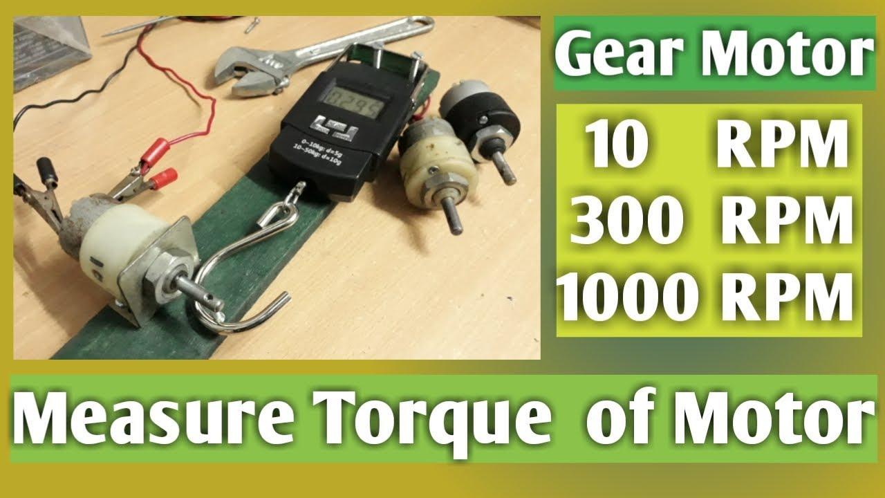 Torque of Dc Motor, How to Measure?
