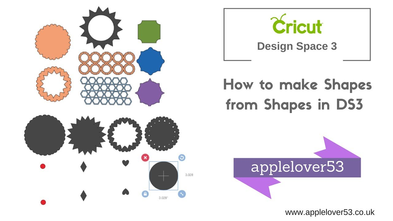 Cricut Design Space 3 Make Shapes from Shapes