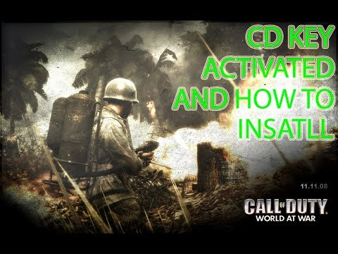How To Install Call Of Duty World At War And CD Key Activated