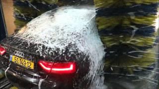 תהליך שטיפת הרכב במנהרה של פנדה שטיפת רכבים - Panda Wash Cars AUDI