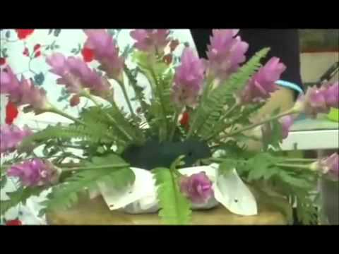 การจัดดอกไม้ทรงแนวนอน By นฤเบศร์