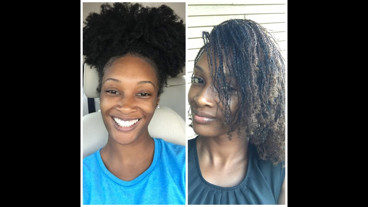 Micro Twist On Natural Hair You