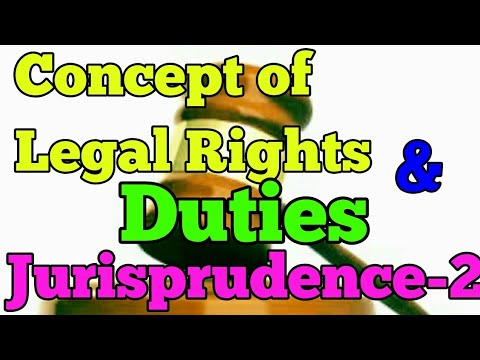 concept of legal rights and duties|theories of rights|will theory|interest theory|