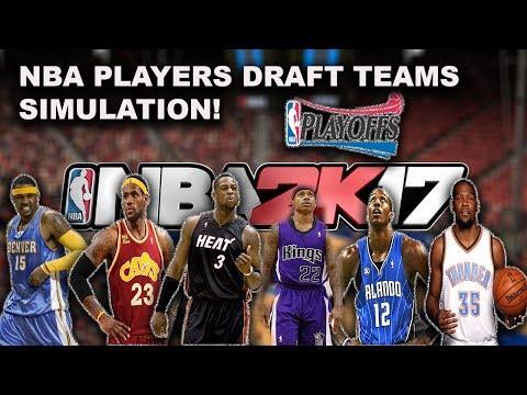 NBA players on their Original Draft Teams! CRAZY SIMULATION ON NBA2K17 (playoff & season)