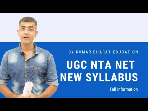 UGC NTA NET New Syllabus - FULL INFORMATION