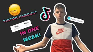 I Tried To Get TikTok Famous In a Week...