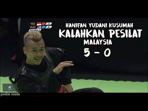 Hanifan Yk Kalahkan Pesilat Malaysia 5 - 0